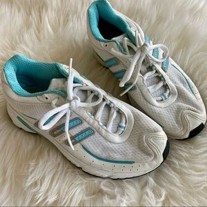 Adidas light blue and White Sneakers US 6